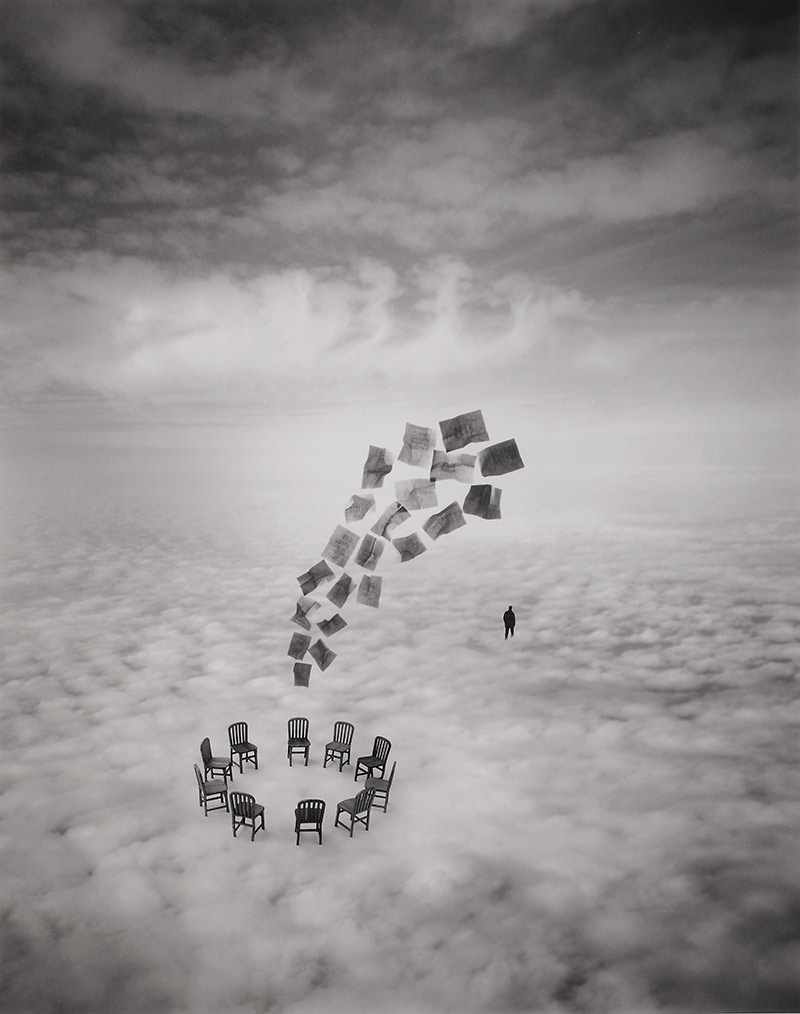 Jerry Uelsmann, The commitee, 2002, photographie, collection privée